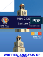 MBA C431 LEC 6  Written Analysis of Cases (1).ppt