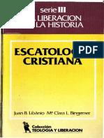 Libanio, J.  - C - Escatologia Cristiana.pdf