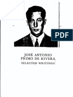 Jose Antonio Primo de Rivera Selected Writings