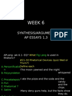 ap lang week 6 and 7 synthesis notes