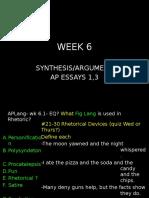 ap lang week 6 and 7 synthesis notes