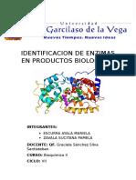 Identificacion de Enzimas en Productos Biologicos