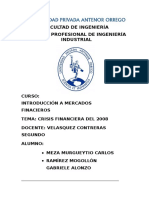 Informe Crisis 2008
