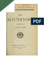 Mes Souvenirs (Massenet)