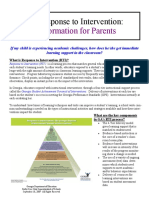 RTI for Parents Sep 18 2009 Newsletter Format