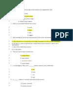 Database Management Practice Multiple Choice