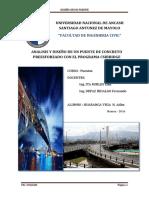 Analisis y Diseño de Un Puente de Concreto Armado Con El Programa Csibridge
