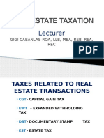 Real Estate Taxation