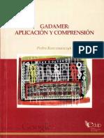 Gadamer Aplicación y Comprensión