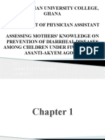 assessing mother's knowlede on diarrhea diseases in under-fives