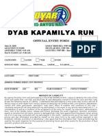 10th DYAB Kapamilya Run Registration Form