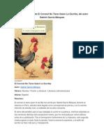 Resumen de El Coronel No Tiene Quien Le Escriba, Del Autor Gabriel García Márquez