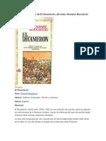 Resumen de El Decamerón, Del Autor Giovanni Boccaccio