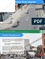 Bond Street Bike Lane Upgrade Presentation by DOT to Community Board 6 May 2016