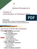 Database Management - Ch 06 Normalization