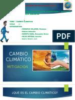 Mitigacion. Cambio Climático