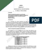 Química. Guia Compuestos Químicos y Reacciones Químicas