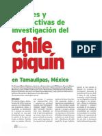 Avances y Perspectivas de Investigación Del Chile Piquín en Tamaulipas, México