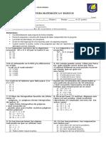 Prueba de Ecuaciones e Inecuaciones