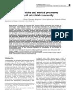 Dumbrell Et Al ISME 2010 Niche Neutral Soil Microbes