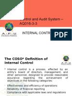 CH 1- Internal Control System