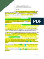Legal Research Plan