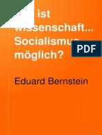 Wie Ist Wissenchaftlicer Sozialismus Möglich? Eduard Bernstein