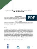 O acesso às ações e serviços de saneamento básico como um direito social.pdf