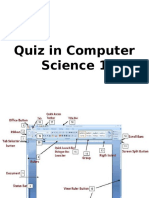 Parts of the Word Screen - Quiz