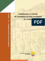 Introducción a La Gestión Del Patrimonio Cultural en Ciudades Del Ecuador