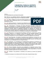 Codigo Municipal Para El Distrito Metropolitano de Quito (Libro 2-A)