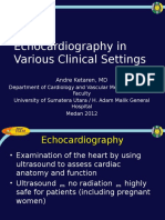 Echocardiography Role in Clinical Settings (NTCM 2012)
