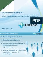 Aulas de Psicologia Nas Organizações 7- EAD- Estácio