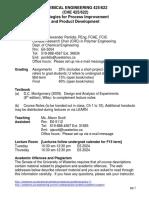 CHE 425 622 F15 Intro Sheet