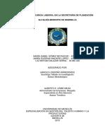 Estudio de Carga Laboral en La Secretaría de Planeación Alcaldía Municipio de Marinilla
