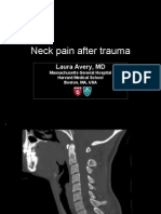 Neck pain after trauma