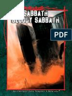 Sabbath Bloody Sabbath - Aventura Rápida (Vampiro