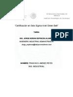Certificacion Six Sigma
