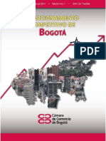 Informe de Posicionamiento Competitivo de Bogotá 2014.