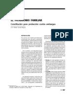 El patrimonio familiar. Constitución para protección contra embargos.pdf