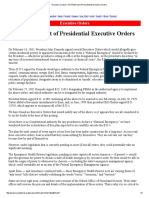 Executive Orders _ the FEMA List of Presidential Executive Orders