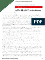 Executive Orders _ the FEMA List of Presidential Executive Orders