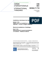 IEC 60364-7-710 [Electrical Installations of Buildings - Part 7-710 - Requirements for Special Installations or Locations - Medical Locations]