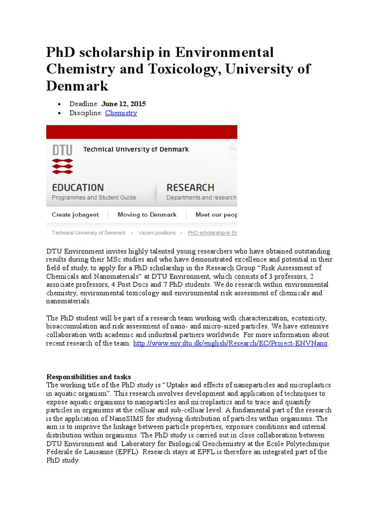 Phd thesis in environmental chemistry