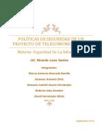 Manual de Politicas de Seguridad de Un Proyecto de Telecomunicaciones