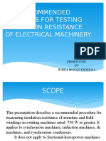 Ieee Recommended Pratices for Testing Insulation Resistance Of