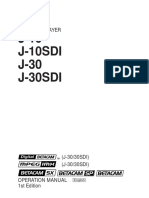 Betacam J Series Manual