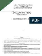 Examen Quinto 2015