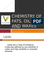 Chemistry of Fats Oils and Waxes