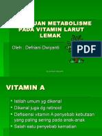 Gangguan Metabolisme Pada Vitamin Larut Lemak